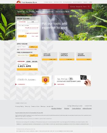 First Hawaiian, Inc. Website Screenshot