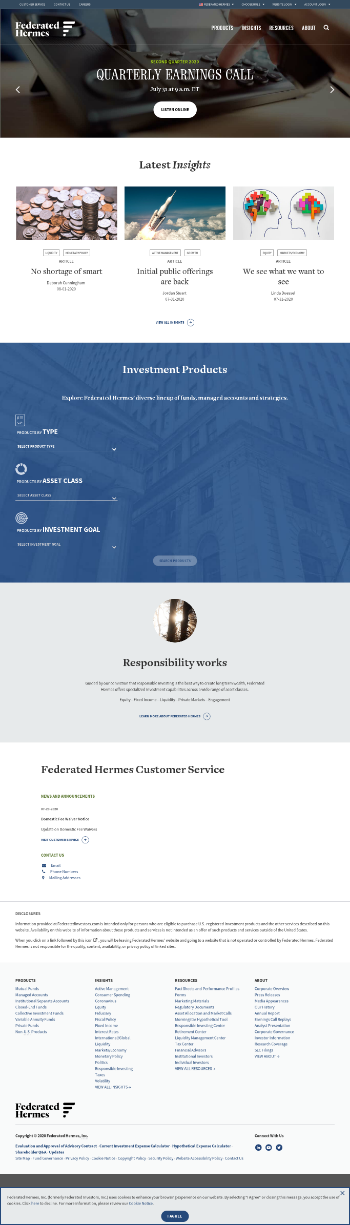 Federated Hermes, Inc. Website Screenshot