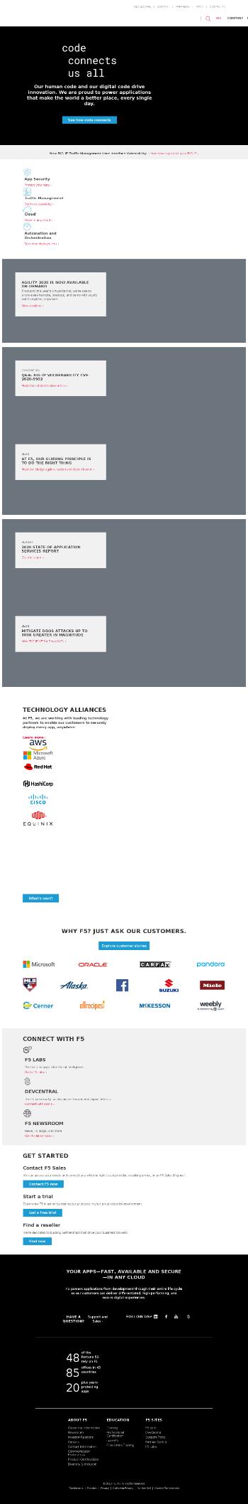 F5 Networks, Inc. Website Screenshot