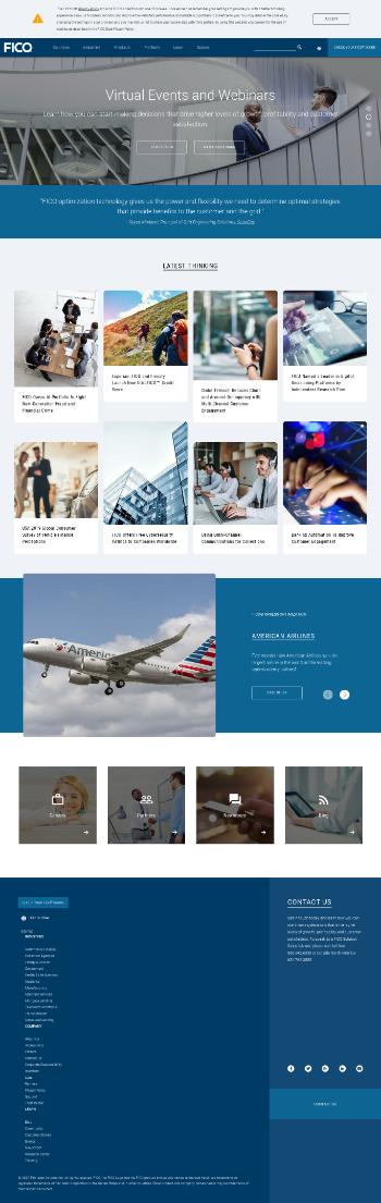Fair Isaac Corporation Website Screenshot