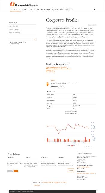 First Interstate BancSystem, Inc. Website Screenshot