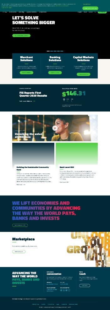 Fidelity National Information Services, Inc. Website Screenshot