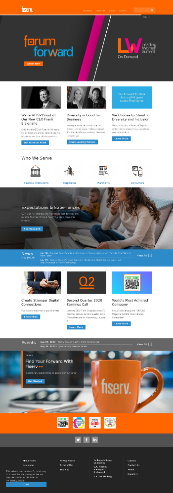 Fiserv, Inc. Website Screenshot