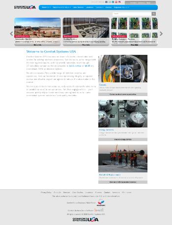 Comfort Systems USA, Inc. Website Screenshot