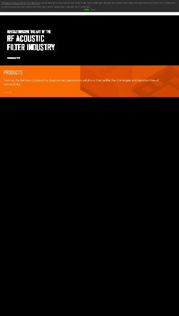 Akoustis Technologies, Inc. Website Screenshot