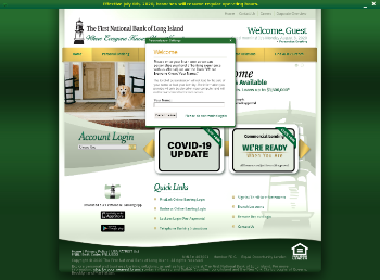 The First of Long Island Corporation Website Screenshot