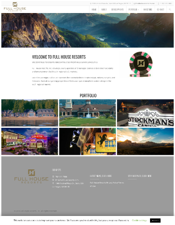 Full House Resorts, Inc. Website Screenshot