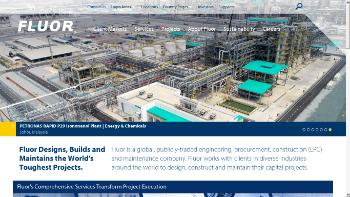 Fluor Corporation Website Screenshot