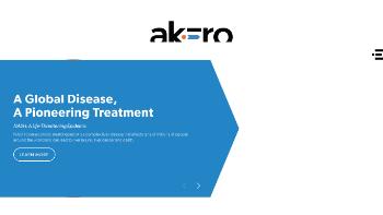 Akero Therapeutics, Inc. Website Screenshot