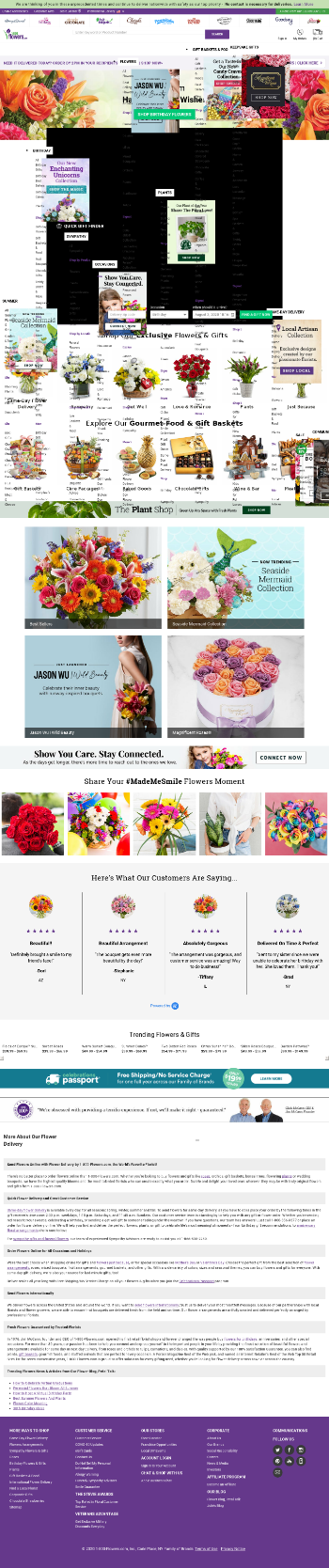 1-800-FLOWERS.COM, Inc. Website Screenshot
