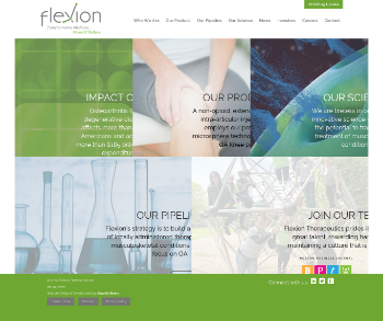 Flexion Therapeutics, Inc. Website Screenshot