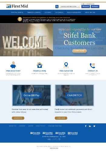 First Mid Bancshares, Inc. Website Screenshot