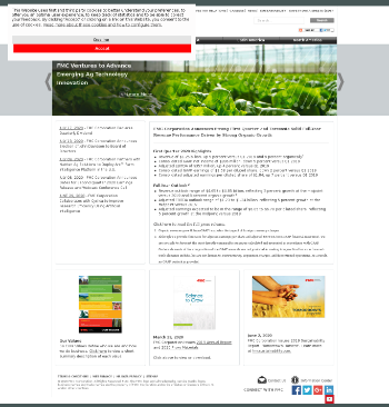 FMC Corporation Website Screenshot