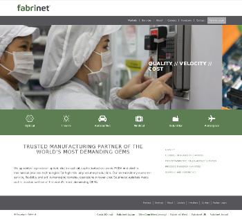 Fabrinet Website Screenshot