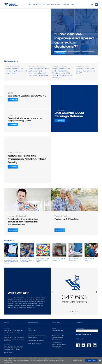 Fresenius Medical Care AG & Co. KGaA Website Screenshot