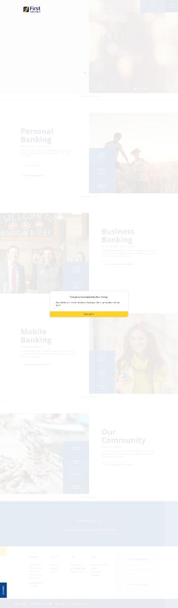 The First Bancorp, Inc. Website Screenshot