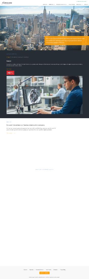 Forward Industries, Inc. Website Screenshot