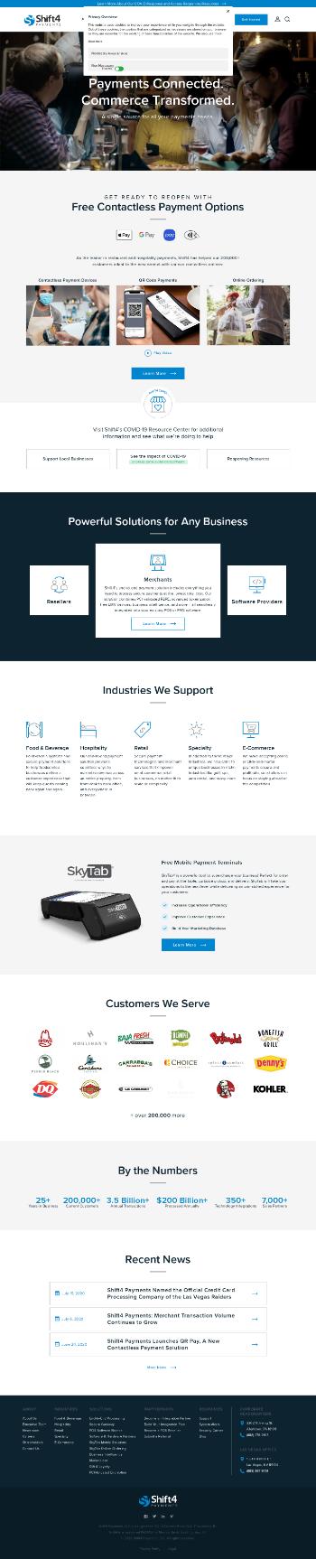 Shift4 Payments, Inc. Website Screenshot