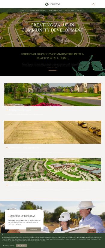 Forestar Group Inc. Website Screenshot