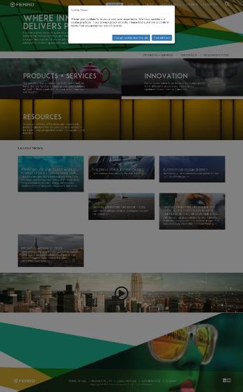 Ferro Corporation Website Screenshot