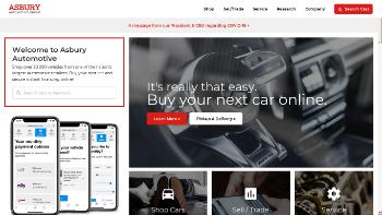 Asbury Automotive Group, Inc. Website Screenshot