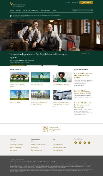 First Republic Bank Website Screenshot