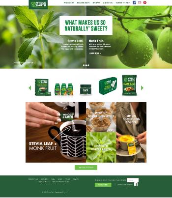 Whole Earth Brands, Inc. Website Screenshot