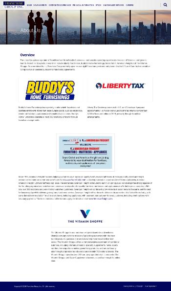 Franchise Group, Inc. Website Screenshot