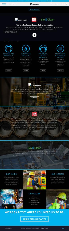 Forterra, Inc. Website Screenshot