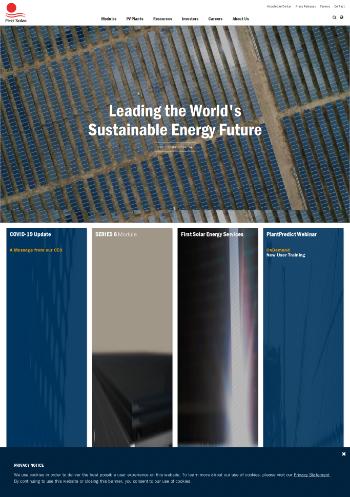 First Solar, Inc. Website Screenshot