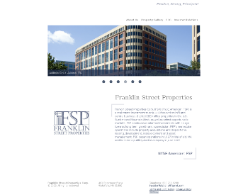 Franklin Street Properties Corp. Website Screenshot