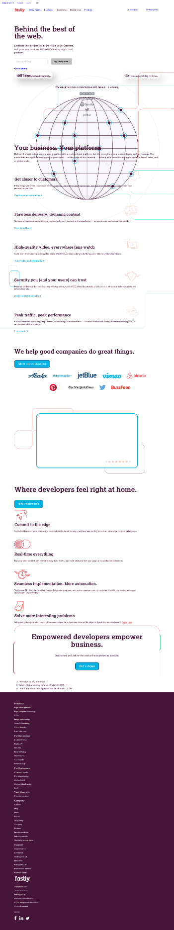 Fastly, Inc. Website Screenshot