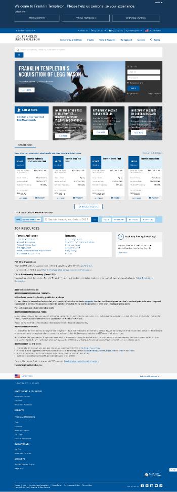 Franklin Universal Trust Website Screenshot