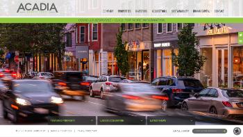 Acadia Realty Trust Website Screenshot