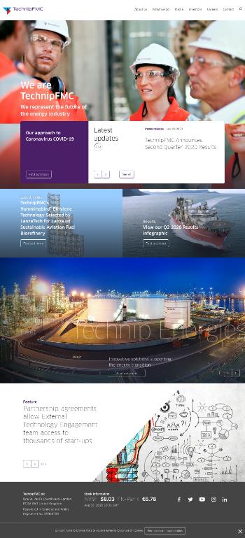 TechnipFMC plc Website Screenshot