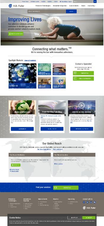 H.B. Fuller Company Website Screenshot