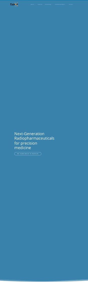 Fusion Pharmaceuticals Inc. Website Screenshot