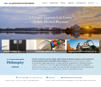 Gladstone Investment Corporation Website Screenshot