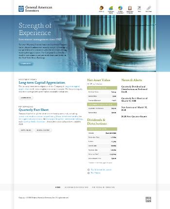 General American Investors Company, Inc. Website Screenshot