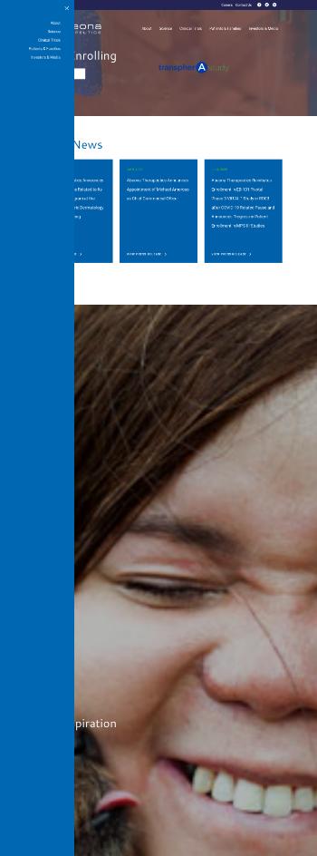 Abeona Therapeutics Inc. Website Screenshot