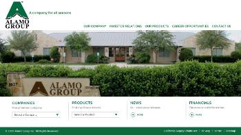 Alamo Group Inc. Website Screenshot
