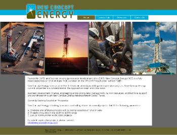 New Concept Energy, Inc. Website Screenshot
