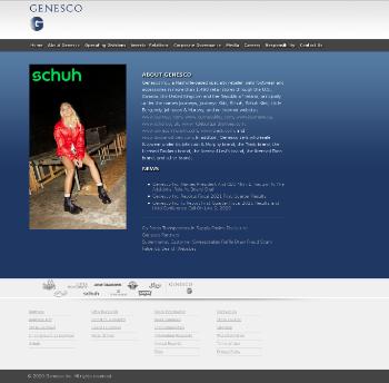 Genesco Inc. Website Screenshot