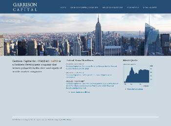 Garrison Capital Inc. Website Screenshot