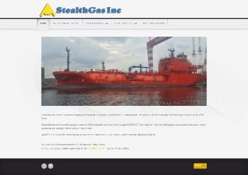 StealthGas Inc. Website Screenshot