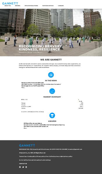 Gannett Co., Inc. Website Screenshot
