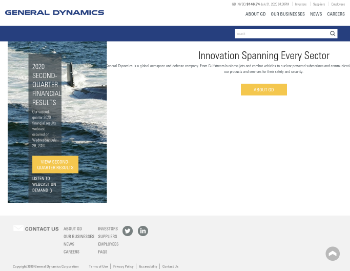 General Dynamics Corporation Website Screenshot