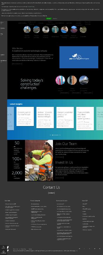 GCP Applied Technologies Inc. Website Screenshot