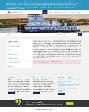 Genesis Energy, L.P. Website Screenshot