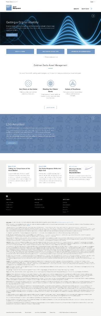 Goldman Sachs MLP and Energy Renaissance Fund Website Screenshot